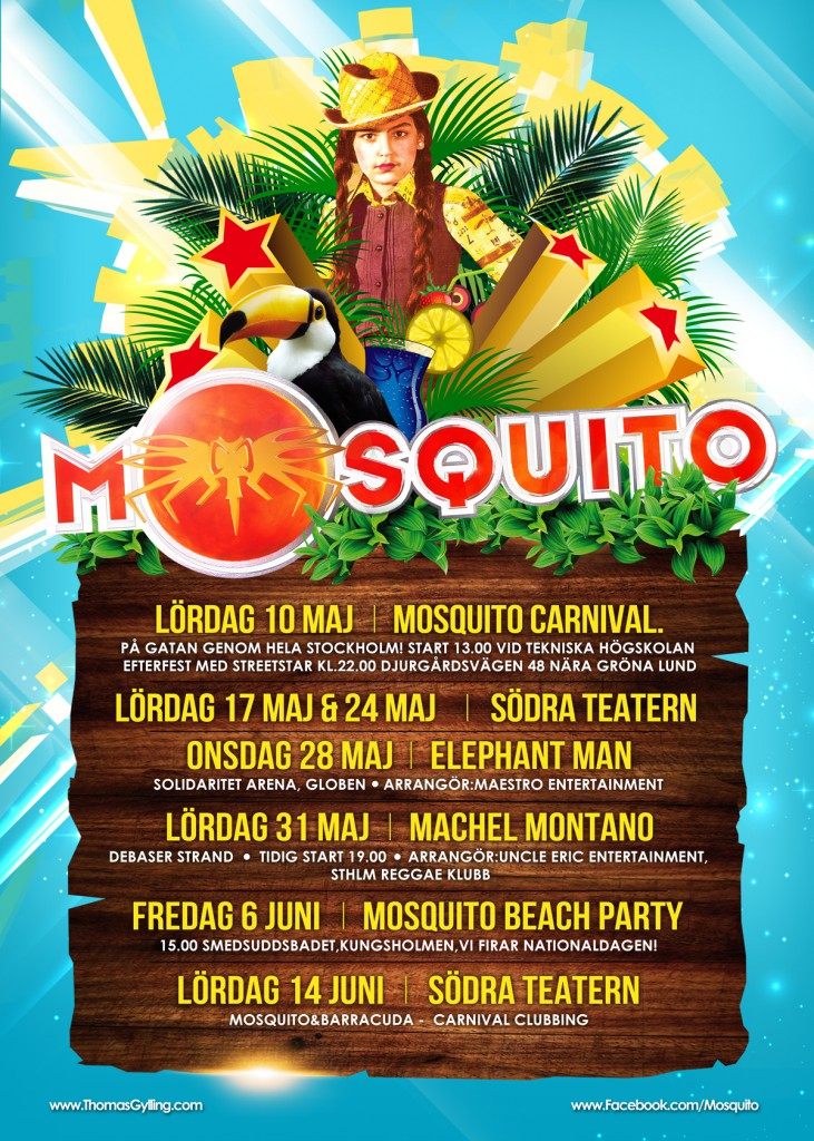 Mosquito-Summer-Poster-Carnival-Tour
