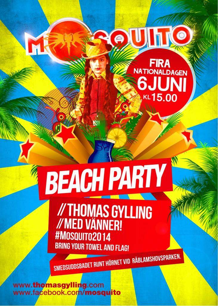 Beach Party 2014 posterLatt